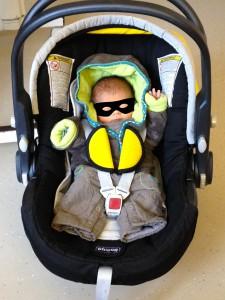 Jolan sur le départ de la maternité
